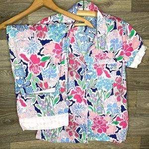 Crown & Ivy Floral Print Pajama Set